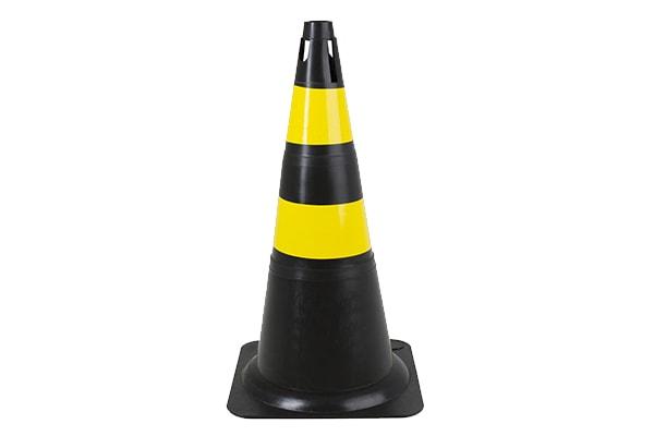 CONE RÍGIDO 70 cm • Preto/Amarelo